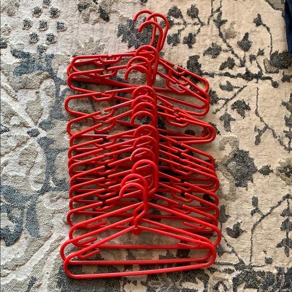 Kids Hangers Red Set of 16